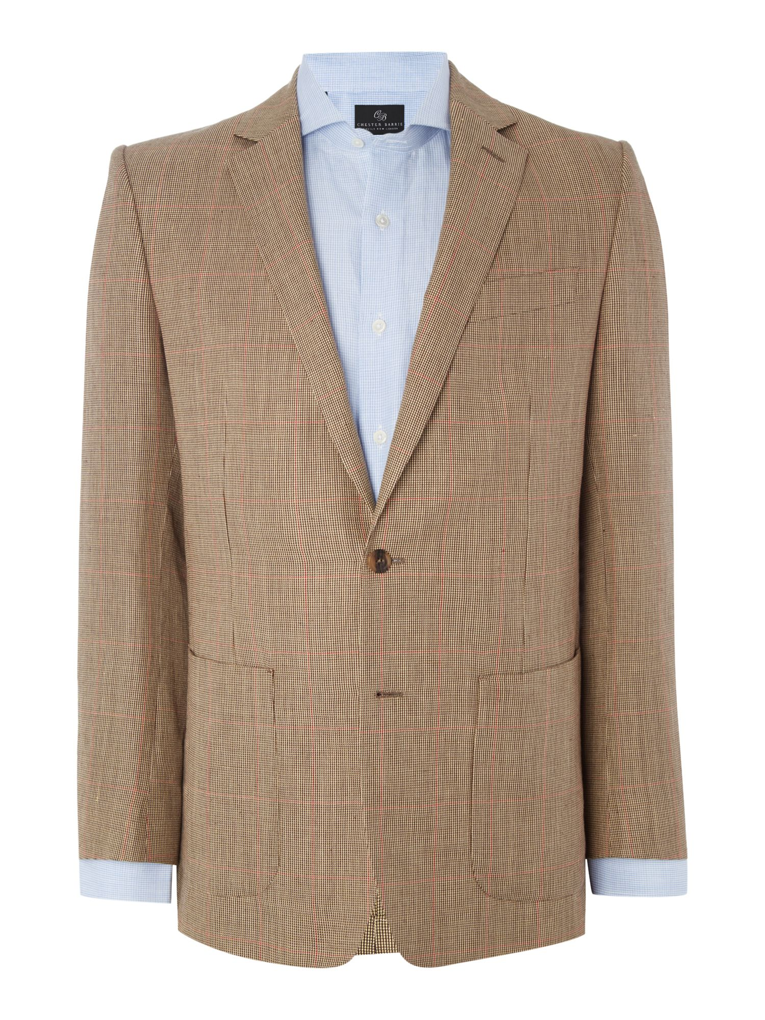 Chester Barrie Men's Chester Barrie Check Sports Jacket, Brown