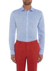 Chester Barrie L/S Linen Slim Fit Shirt