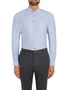 Chester Barrie Baden Solid Oxford Slim Fit Button Down