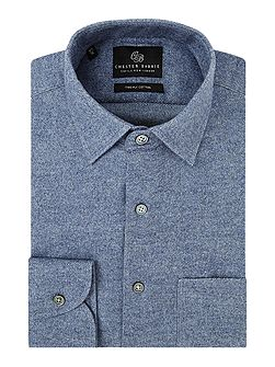 Contemporary Brushed Flannel Shirt