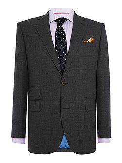 Textured Wool Flannel 2pc Soho Suit