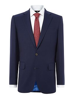 Navy Hopsack 2 pc Suit