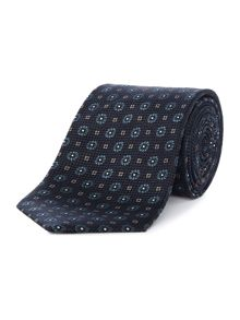 Chester Barrie Square & Flower Silk Tie
