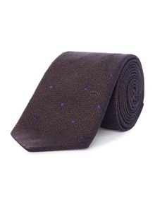 Chester Barrie Textured Spot Silk Tie