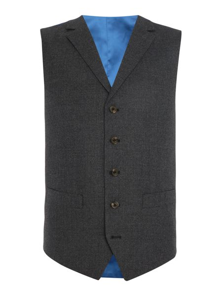 Chester Barrie Textured Wool Flannel Soho Waistcoat