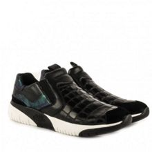 Set softy croc leather trainers
