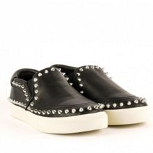 Idyle stud leather trainers
