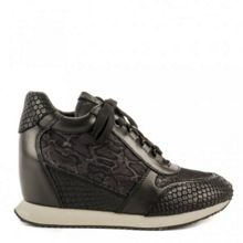 Dream leather wedge trainers
