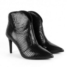 Ash Capture metallic leather heel boots
