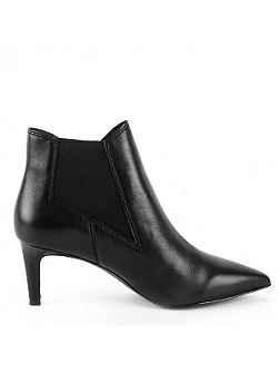 Drastic leather heeled boots
