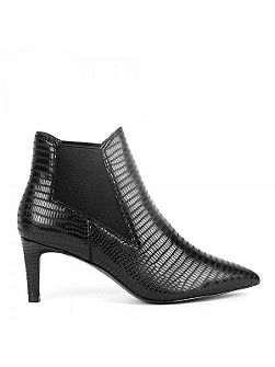 Drastic metallic leather heel boots