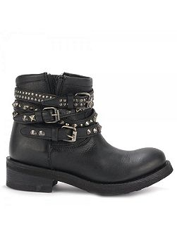 Tatum leather biker boots
