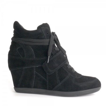 Ash Ash bowie suede high-top wedge trainers