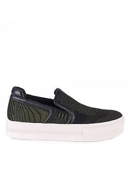 Jeday knit slip on leather trainers