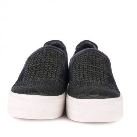 Ash Jeday knit slip on leather trainers