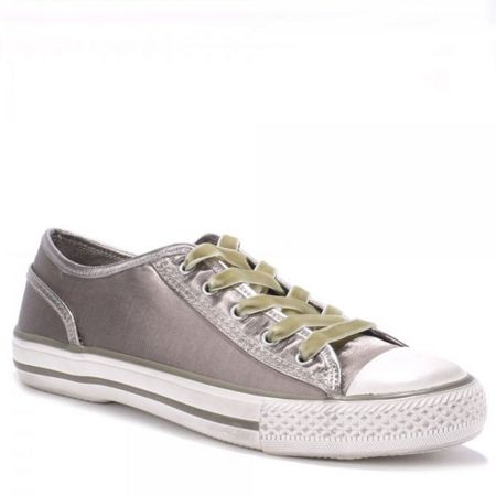 Ash Viper satin taupe trainers
