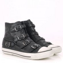 Ash Virgin leather buckle trainers