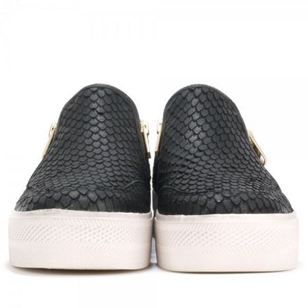 Ash Jordy textured leather trainers