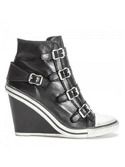 Thelma hi-top wedge leather trainers