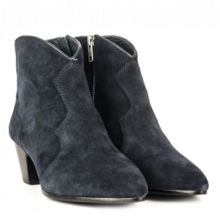 Hurrican suede heeled ankle boots