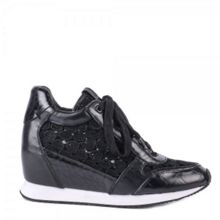 Ash Dream lace wedge leather trainers