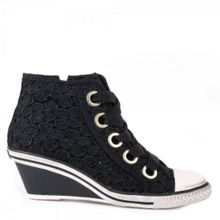 Ash Glen mid-wedge lace trainers