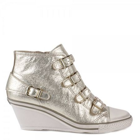 Ash Genial mid-wedge leather trainers
