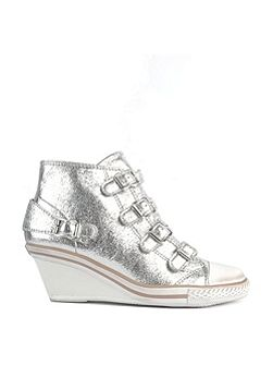 Genial mid-wedge leather trainers