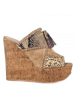 Blondie bis wedge sandals