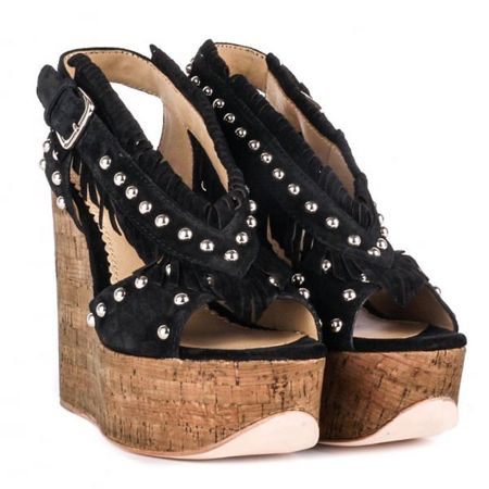 Ash Blossom wedge sandals