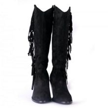 Ash Imala knee high suede fringe boots