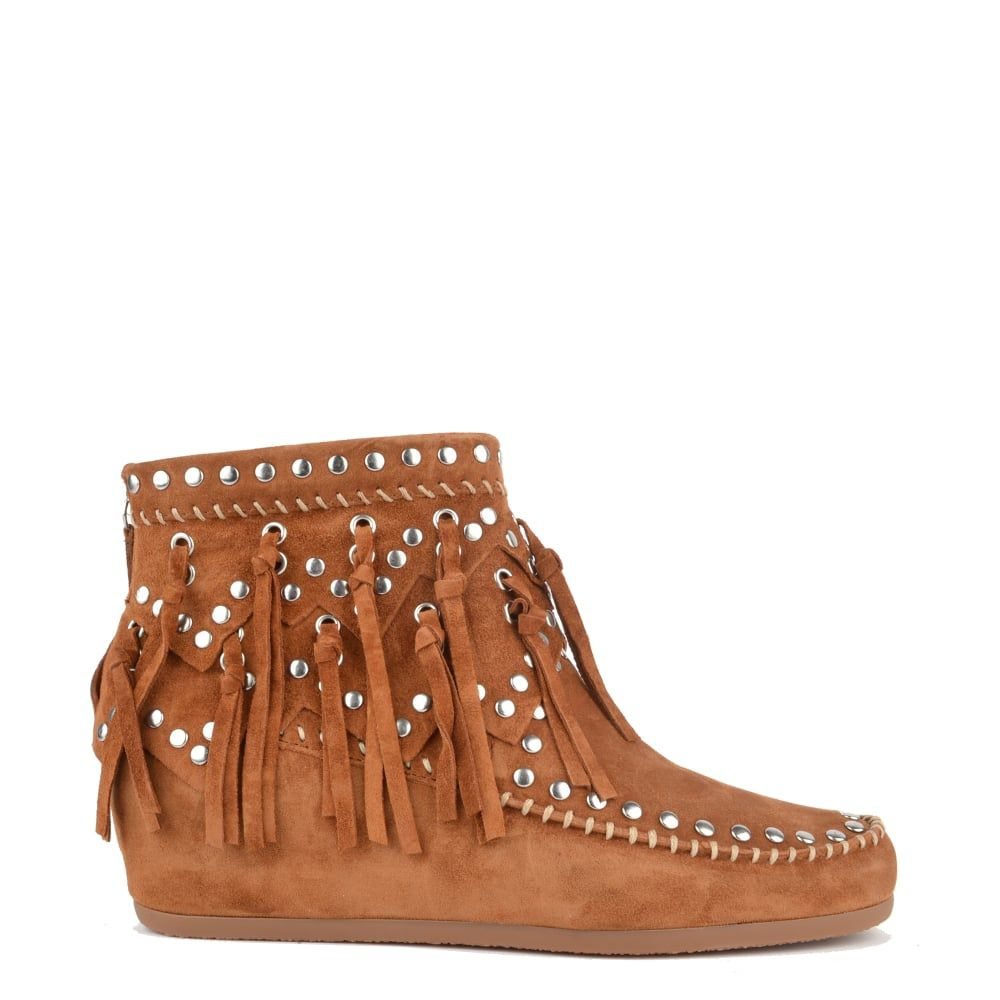 Ash Ash spirit fringed ankle boots Brown