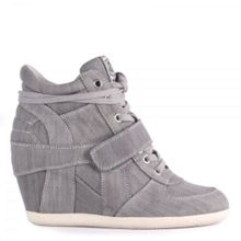 Ash Ash bowie denim high-top wedge trainers