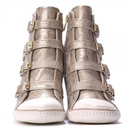 Ash Thelma hi-top wedge leather trainers