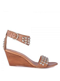 Dune wedge leather sandals