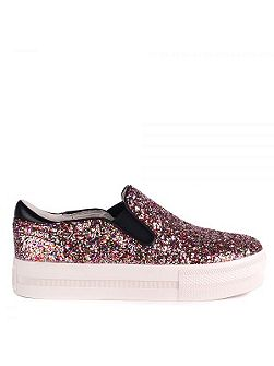 Jungle bis leather trainers