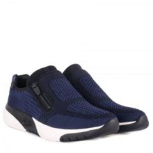 Ash Studio Knit Woven Leather Trainers