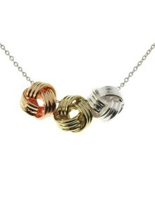 Indulgence Jewellery 3 knot necklace