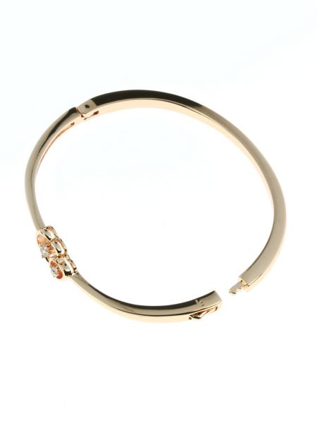 Indulgence Jewellery Rose gold colour bangle with cz hearts