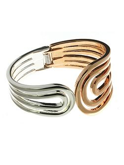 Indulgence Jewellery Rose Gold & Silver colour coil