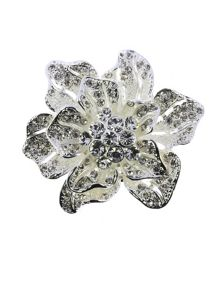 Indulgence Jewellery crystal flower brooch
