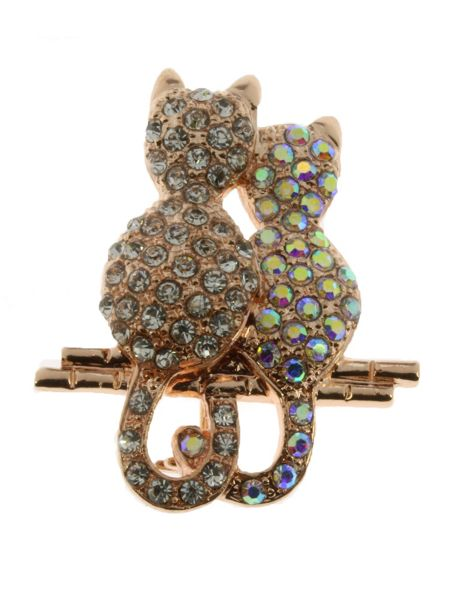 Indulgence Jewellery Indulgence two cats brooch