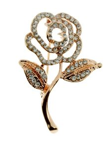 Indulgence Jewellery Indulgence single rose brooch