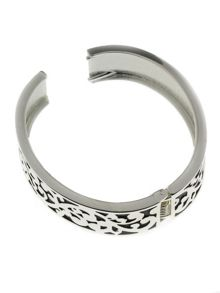 Indulgence Jewellery Indulgence rhodium and black bangle