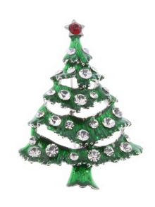 Indulgence Jewellery Indulgence green Christmas Tree brooch