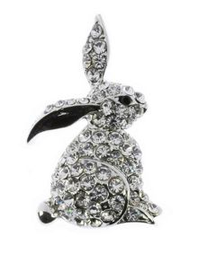 Indulgence Jewellery Indulgence crystal rabbit brooch