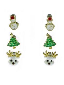 Indulgence Jewellery Indulgence reindeer trio earring set