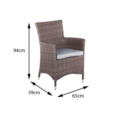 Cozy Bay Hawaii rattan 2 seater tea for two set with low b