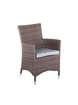 Hawaii rattan low back arm chair in onyx