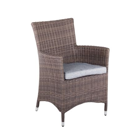 Cozy Bay Hawaii rattan low back arm chair in onyx cocoa wi